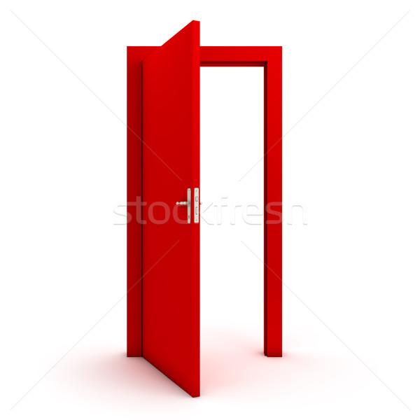 Open red door Stock photo © goir