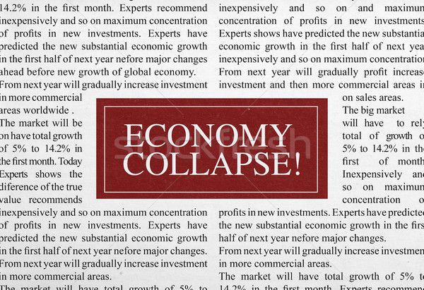 Economy collapse headline Stock photo © goir