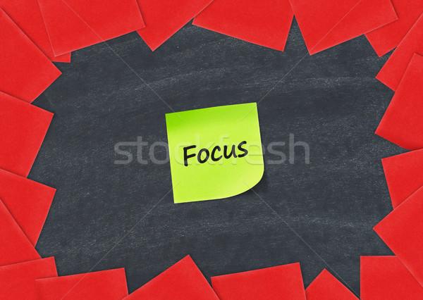 Foco adesivo nota lousa quadro indústria Foto stock © goir