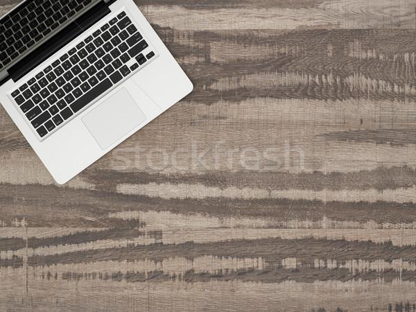 Laptop asztal copy space közvetlenül fölött kilátás Stock fotó © goir