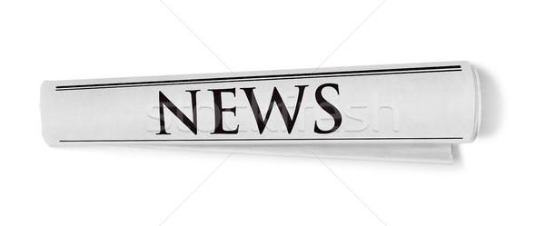 Journal isolé blanche papier communication document Photo stock © goir