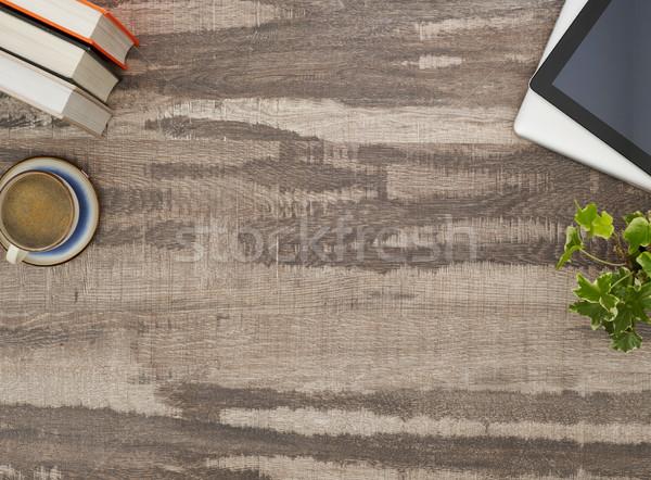 Werken bureau rechtstreeks boven tabel Stockfoto © goir