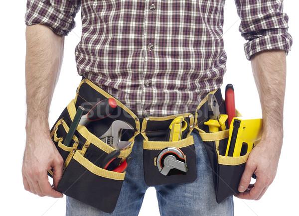 Carpenter wearing tool belt Stock photo © goir