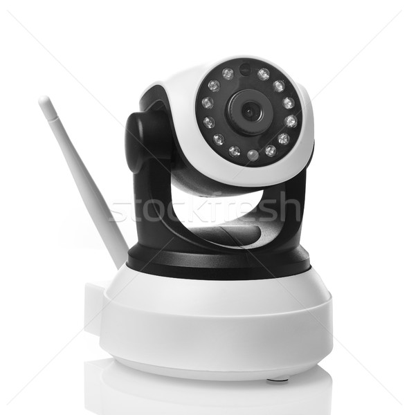 Otthon megfigyelés kamera izolált fehér technológia Stock fotó © goir