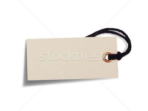 Tag isolé blanche signe vente étiquette Photo stock © goir