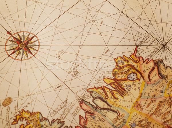 Old map detail Stock photo © goir