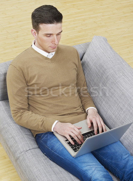 Man working on laptop Stock photo © goir