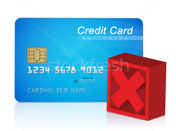 Credit card and red cross mark Stock photo © goir