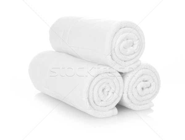 Rolled up white towels Stock photo © goir