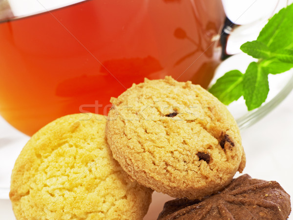 Cookies чай лист пить Сток-фото © goir