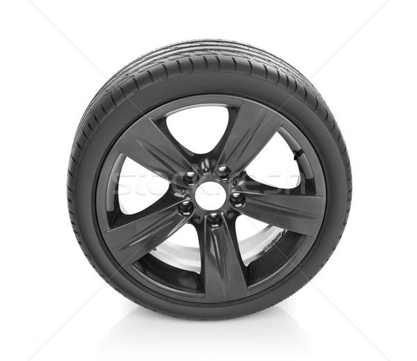 Voiture roue isolé blanche sport métal Photo stock © goir