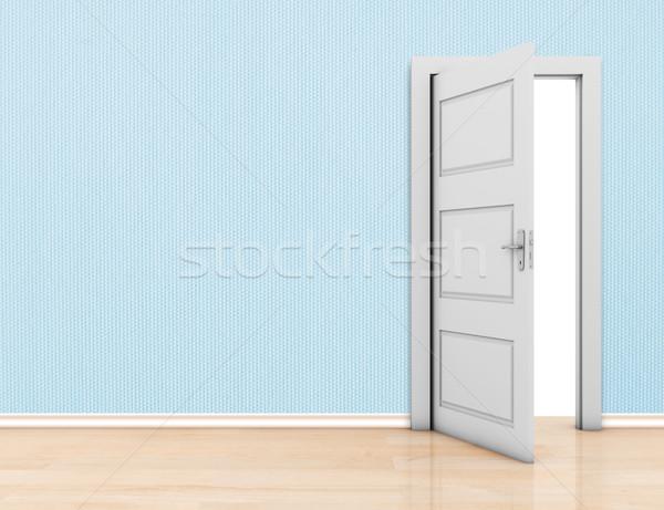 Photo stock: Mur · porte · porte · ouverte · chambre · espace · propre