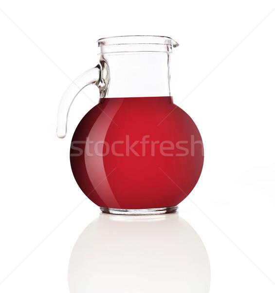 Kancsó piros dzsúz izolált fehér gyümölcs Stock fotó © goir