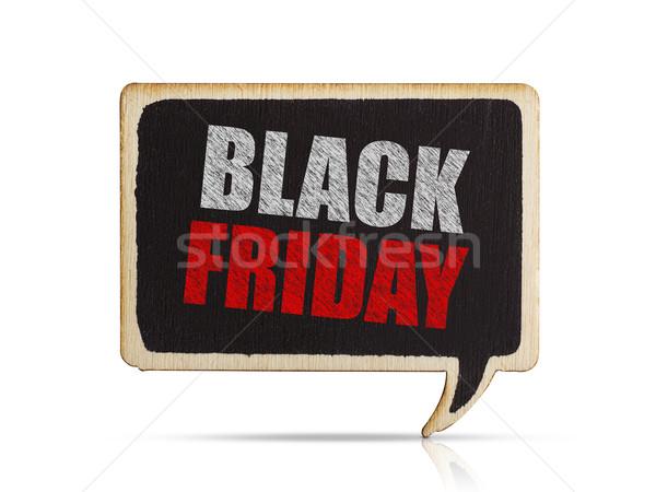 черная пятница баннер изолированный белый знак маркетинга Сток-фото © goir