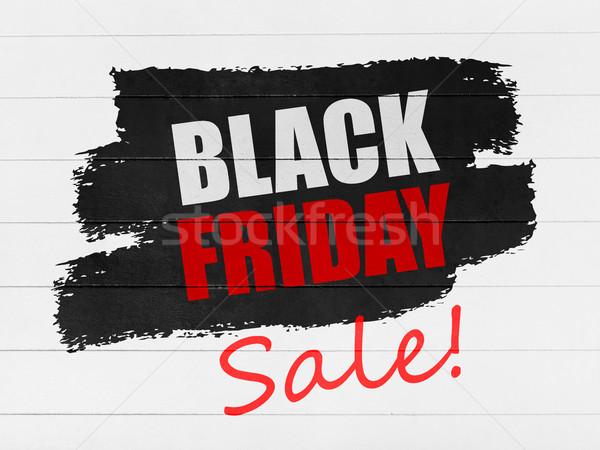 черная пятница продажи баннер древесины краской знак Сток-фото © goir