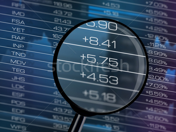 Stock market data table close-up Stock photo © goir