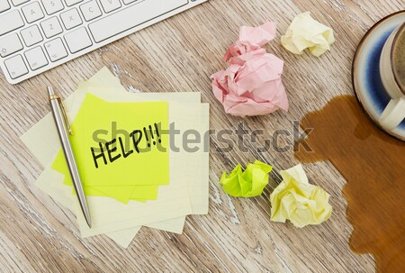 Zelfklevend merkt hout papier lege Stockfoto © goir