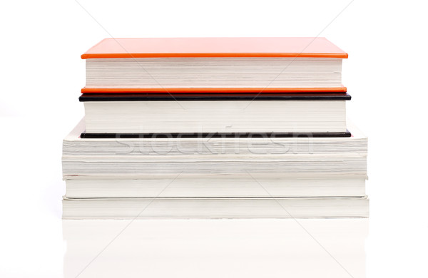 Boeken geïsoleerd witte boek leren Stockfoto © goir