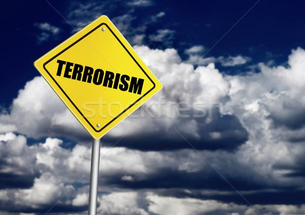 Terörizm imzalamak gökyüzü bulut karanlık şiddet Stok fotoğraf © goir