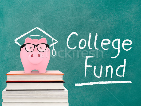 Piggy bank and college fund message Stock photo © goir