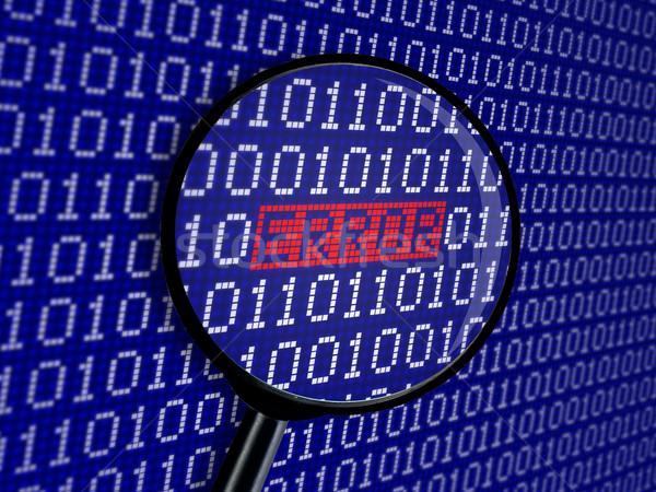 Hiba bináris kód szó internet absztrakt adat Stock fotó © goir