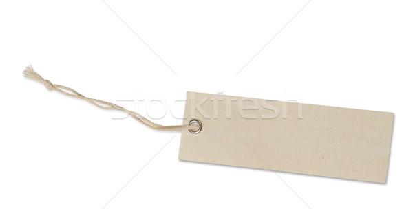 Photo stock: étiquette · isolé · blanche · signe · vente · chaîne