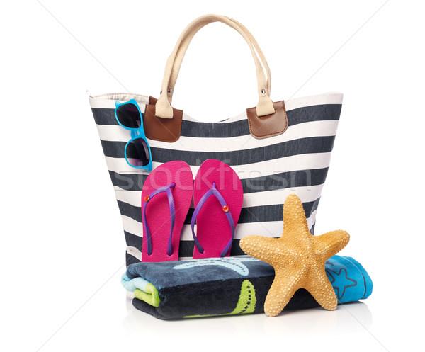 Beach bag and beach items Stock photo © goir