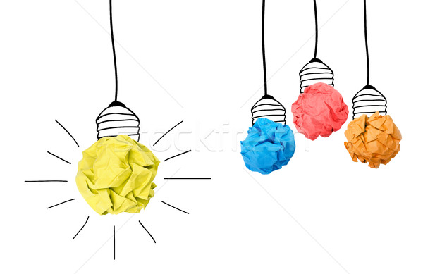 Idéia papel bola lâmpada outro Foto stock © goir
