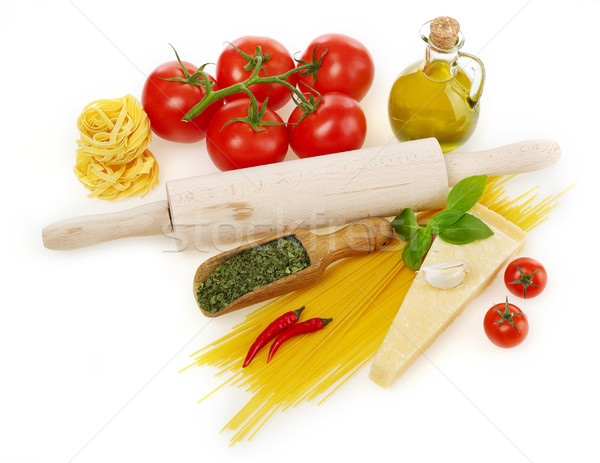 Pasta and ingredients Stock photo © goir