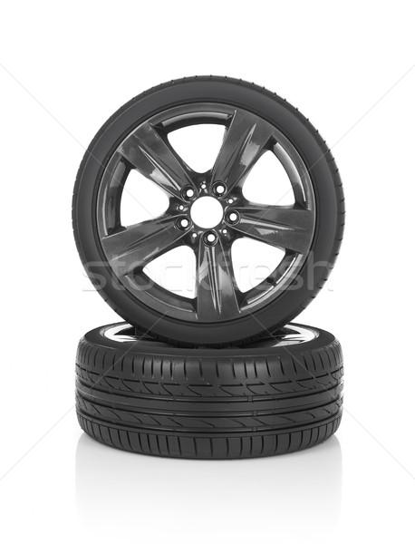 автомобилей шины изолированный белый спорт металл Сток-фото © goir