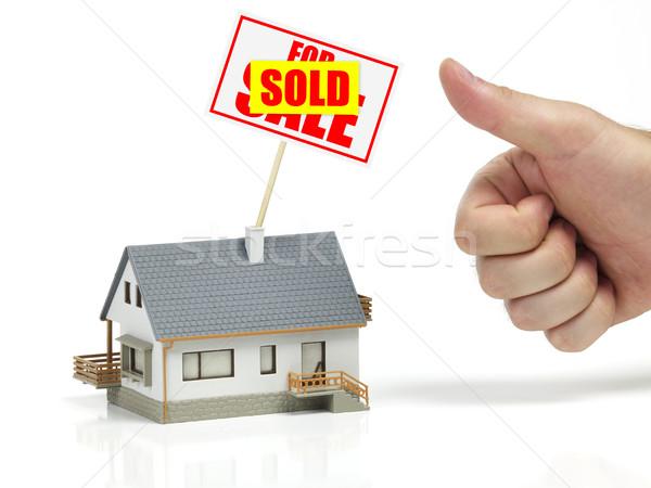 Vendido casa assinar carro financiar arquitetura Foto stock © goir