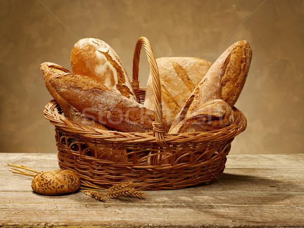 Bread in a basket Stock photo © goir