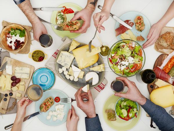 Family dinner Stock photo © goir