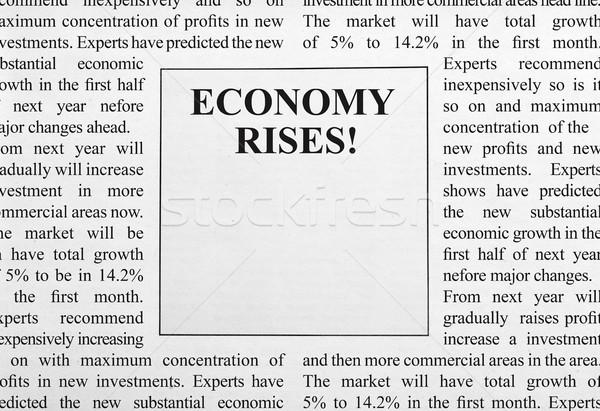 Economy rises ad Stock photo © goir
