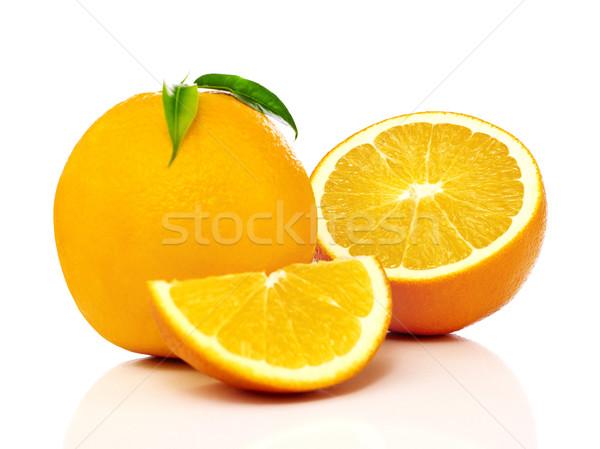Narancs fehér gyümölcs hátterek izolált frissesség Stock fotó © goir