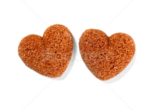 Heart-shaped sugar cubes Stock photo © goir