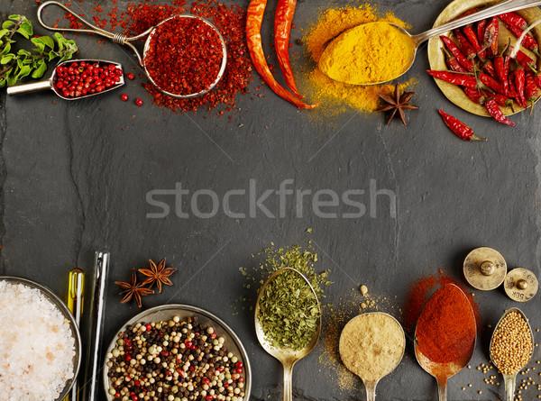 Variáció fűszer copy space keret mag fotózás Stock fotó © goir