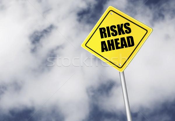 Risks ahead sign Stock photo © goir