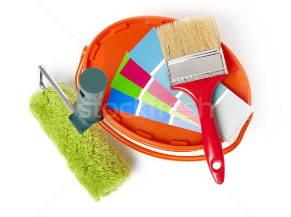 絵画 塗料 ペンキのバケツ 色 色 ストックフォト © goir