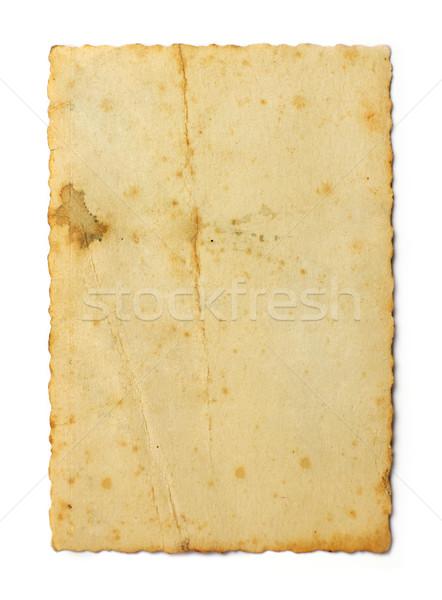 Old photo on white background Stock photo © goir