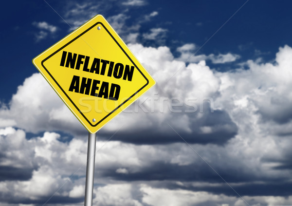 Inflation ahead sign Stock photo © goir