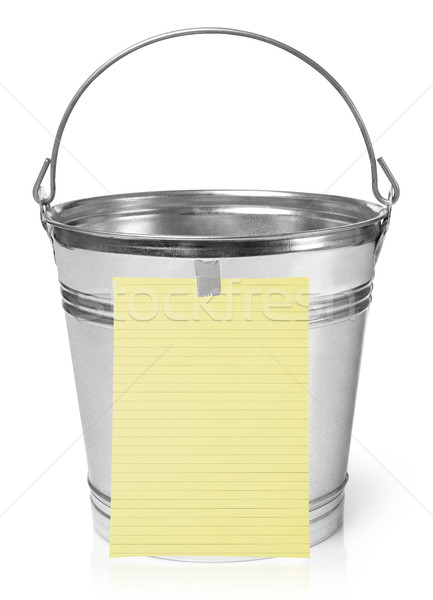 Bucket list Stock photo © goir