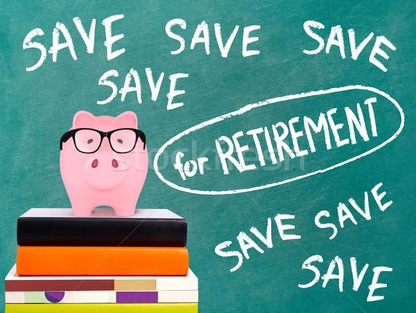 貯金 保存 メッセージ 黒板 眼鏡 ストックフォト © goir