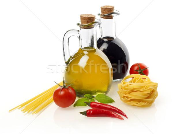 пасты Ингредиенты изолированный белый томатный растительное Сток-фото © goir