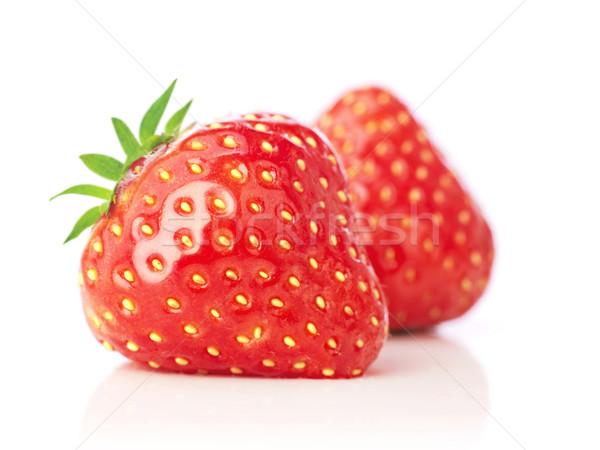 клубника белый продовольствие красный белом фоне органический Сток-фото © goir