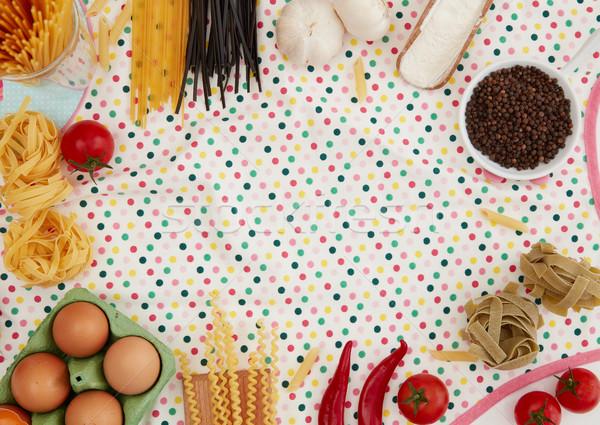 Pişirme malzemeler bo mutfak önlük gıda Stok fotoğraf © goir
