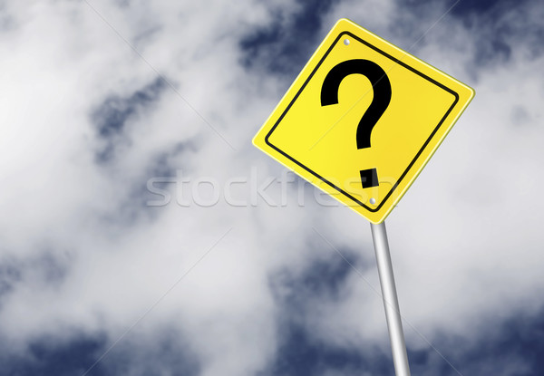 Question mark sign Stock photo © goir