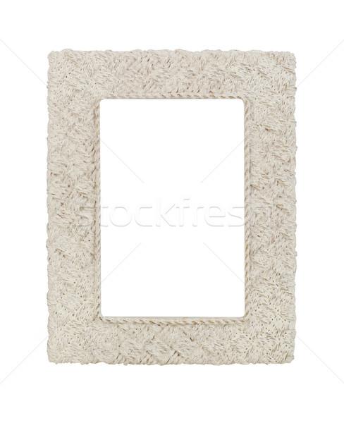 Vintage frame witte fotolijstje luxe decoratie Stockfoto © goir