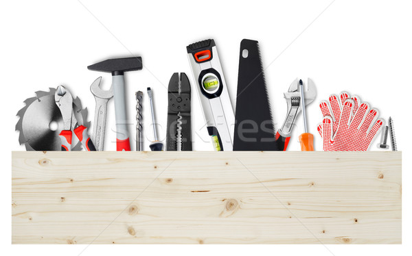 Foto stock: Herramientas · madera · bordo · trabajo