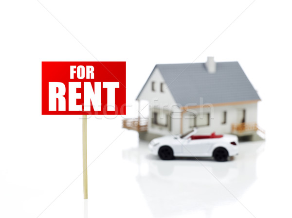 House and car for rent Stock photo © goir